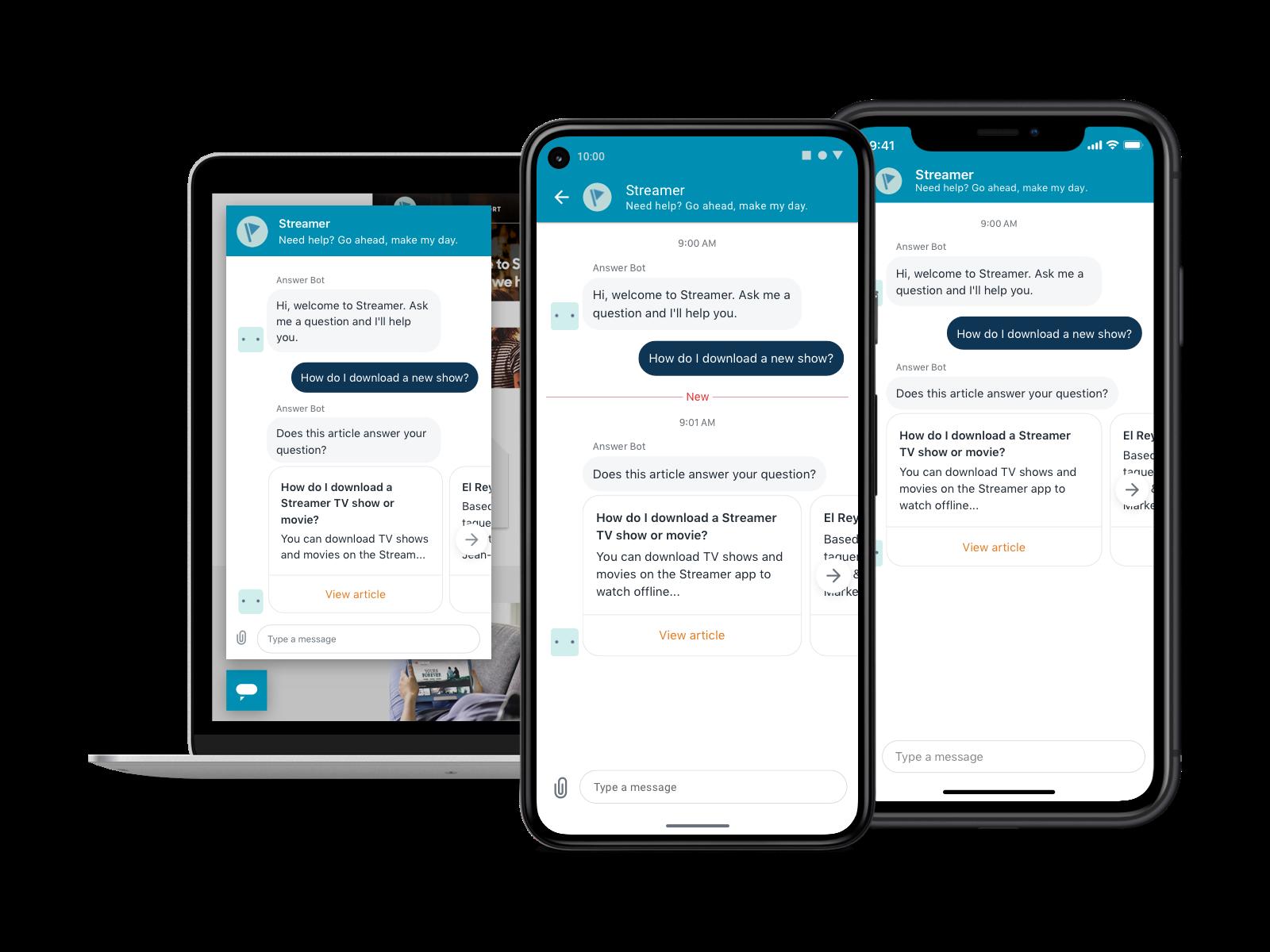 Conversaciones continuas a través de la mensajería de Zendesk<sup>®</sup> para que los clientes no se repitan.