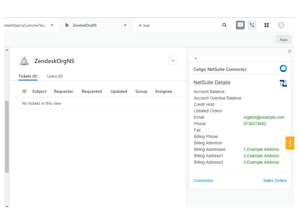 Celigo NetSuite Connector [App de Integración entre NetSuite y Zendesk<sup>®</sup> Support y Sell. Detalles de Cliente, Balance, Direcciones de Facturación, Pedidos, Sincronización de Datos. ERP, CRM y Customer Experience (CX)]