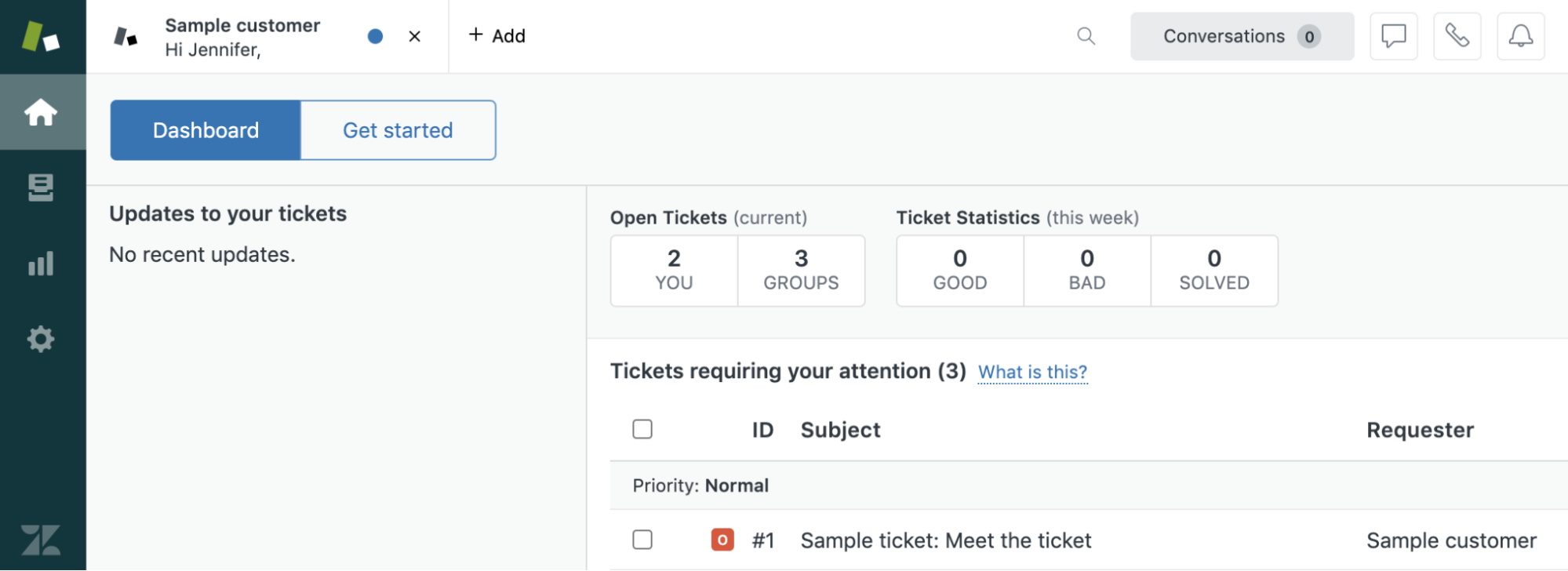 Example of a Zendesk<sup>®</sup> Suite trial